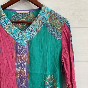 a9ae36a1c19 Soft Surroundings Tops - Soft Surrounding Crinkle Texture Boho Blouse